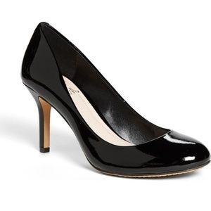 Vince Camuto Sariah Black Patent Leather Pumps 7.5
